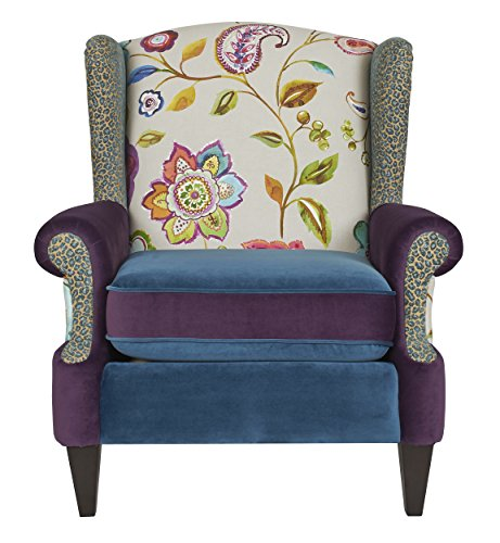 Jennifer Taylor Home 60070-798867 Anya Chair Accent, Large, Multicolored Floral