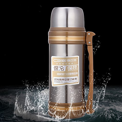 Ieasycan Fashion Outdoor Drinkware Vacuum Flask Thermos Bottle Insulation Cup 304 Stainless Steel Stright Cup with Sling Keep Warm Gift by ieasycan