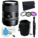 Tamron 16-300mm f/3.5-6.3 Di II VC PZD MACRO Lens + Filter Kit + Deluxe Lens Pouch + Lens Pen Cleaner + Deluxe Cleaning Kit Saver Bundle - International Version (No Warranty)