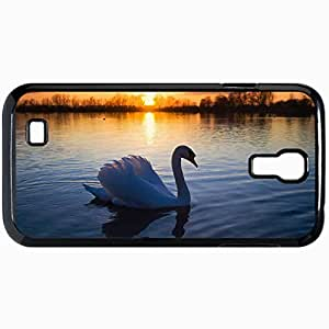 Fashion Unique Design Protective Cellphone Back Cover Case For Samsung GalaxyS4 Case Beautiful Swan Lake Befe Black