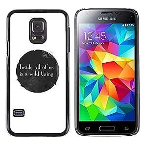 Be Good Phone Accessory // Dura Cáscara cubierta Protectora Caso Carcasa Funda de Protección para Samsung Galaxy S5 Mini, SM-G800, NOT S5 REGULAR! // Ink Stain Spot Bubble Black Whi