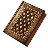 KitMax (TM) Vintage PU Leather Relief Bound Writing Journal Book Personalized Hardcover Bronzing Edge Travel Diary Notebook Gift for Students Children, Bronze