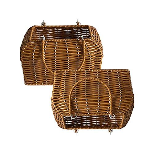 trenzado hecho Bolso bolso de doméstico de tejido de de a bolso ratán Organizador moda paja mano de almacenamiento de recortable playa rxrqpZwn