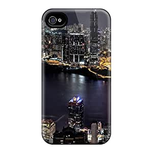 AnnetteL Iphone 4/4s Hybrid Tpu Case Cover Silicon Bumper Night City Scenery by mcsharks