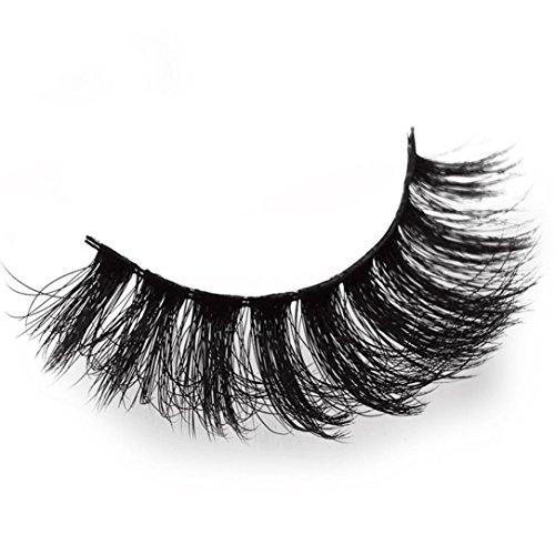 NewKelly Real 3D Soft Long Natural Eye Lashes Makeup Thick False Eyelash Extension (A)