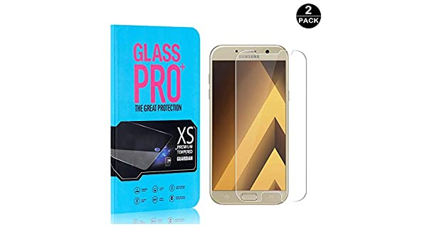Bear Village Screen Protector for Galaxy A3 2017 9H Hardness Tempered Glass Screen Protector Film for Samsung Galaxy A3 2017 4 Pack Anti Fingerprint Easy Installation