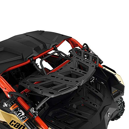 Great Features Of Can Am Maverick X3 LinQ Pivoting Rear Rack BLK OEM NEW #715002881