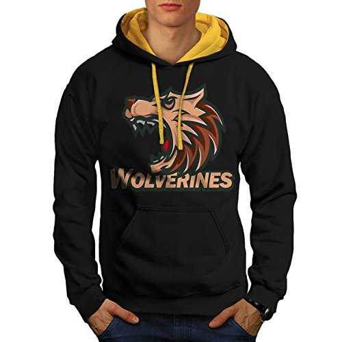 Wolverine Sport Team Basketball Men S Contrast Hoodie | Wellcoda (Evil Bunny Costume)