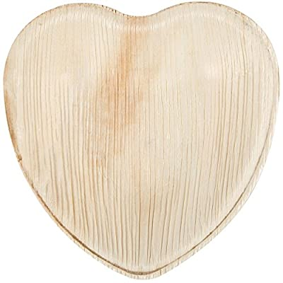 "Eco-Gecko 7"" HEART Palm Leaf plate / 100-ct case"