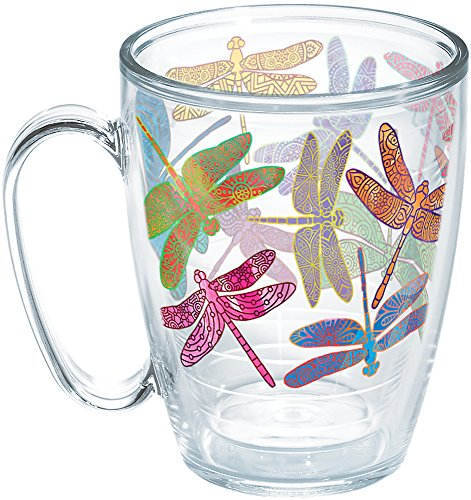 - Tervis 1258391 Dragonfly Mandala Insulated Tumbler with Wrap, 16oz Mug, Clear