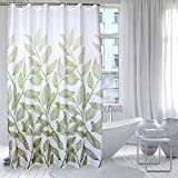 Uforme Modern Novelty Shower Curtain Polyester Mildew Resistant and Water Proof with Reinforced Grommets, Extra Long 72 by 78, Green