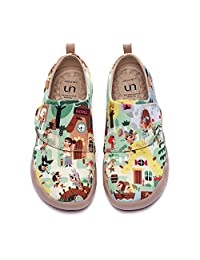 UIN Kids' Fashion Sneaker Colorful Painted Art Funny Walking Casual Loafers Le Village