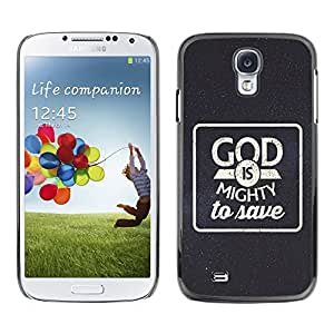 Jesus Designs Slim Case Cover Bible Series Samsung Galaxy S4 IV i9500 / GOD IS MIGHTY TO SAVE /