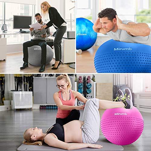 Massage Balls Pelota de Pilates Yoga Ball 75CM 65CM 55CM con Bomba Anti Explosi/ón para Fitness Mirumb Pelota de Ejercicio Embarazo,Oficina,Silla de Equilibrio,Gimnasio