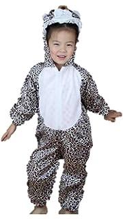 57b92678aa Matissa Niños Disfraces de Animales Niños Niñas Unisex Disfraces Cosplay  Niños Onesie (Leopardo