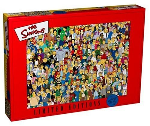 The Simpson's Limited Editions 1000pc Puzzle: A Montage of Charaters by Mega Puzzles