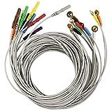 1.5m Gold-Plated Copper Cap Electrodes Cables 10pcs