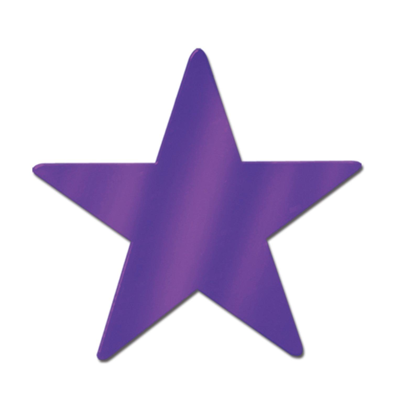 Beistle 55837-PL 72-Piece Foil Star Cutouts, 5-Inch