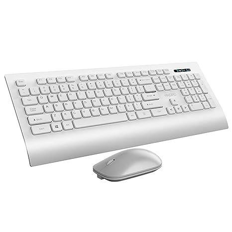 Juego ultrafino de juego de teclado y mouse inalámbricos Silencio Silencioso Esports Mouse Niñas Pequeñas computadoras