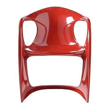 Chaise Design Rouge Vague Lot De 4