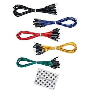 Aketek 50 PCS Jumper Wires Premium 200mm M/F Male-to-Female