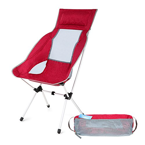 TOMSHOO Folding Chair Ultralight Portable Foldable Lightweight Outdoor Picnic Fishing Camping Backpacking Chairs with Carry Bag