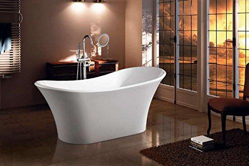 Prezzi Vasche Da Bagno Con Piedini : Vasca da bagno freestanding cm sirio amazon casa e cucina