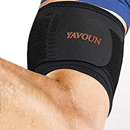 Tendonitis – Bicep & Tricep Compression Sleeve/Wrap – Tricep Tendonitis, Bicep Tendonitis – Pain Relief for Bicep and…