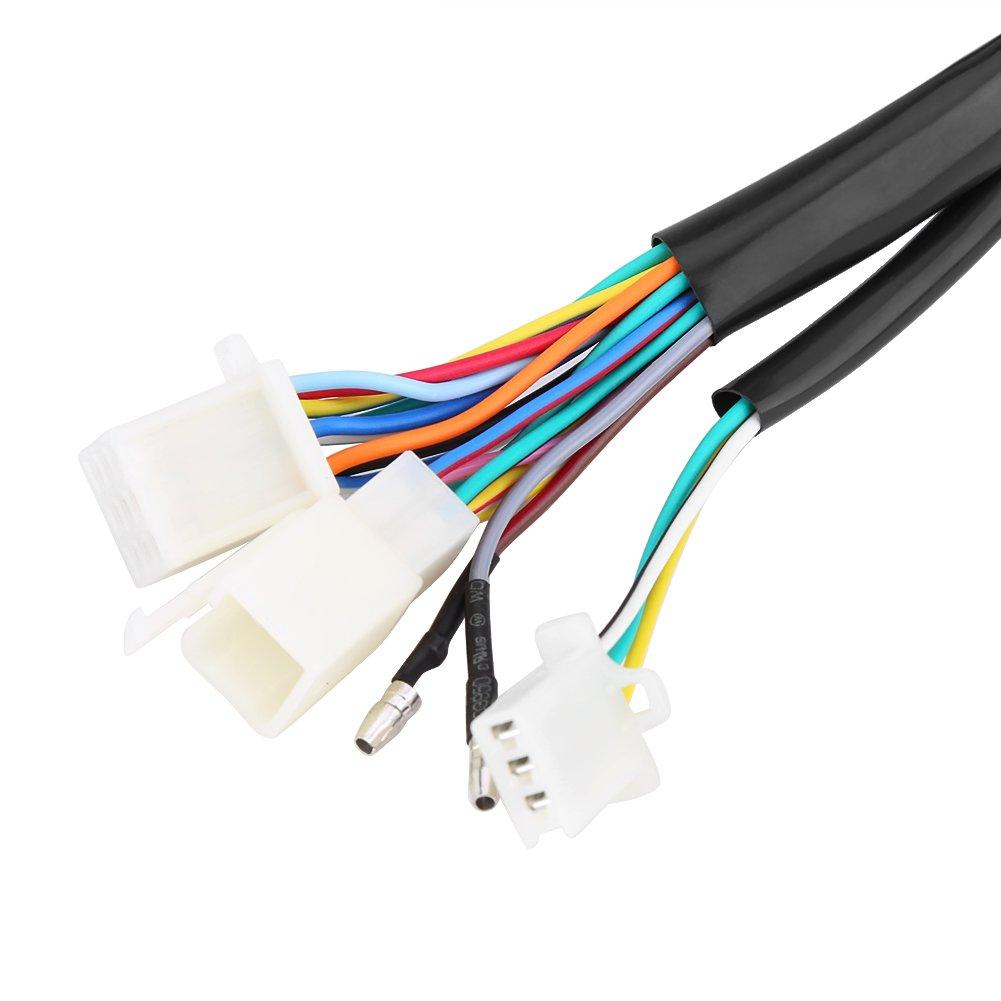 Cuque Universal Motorcycle Digital Speedometer LCD Digital Odometer Tachometer W//Speed Sensor