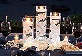 Dining Room Table Decorating Ideas 3 Glass Cylinder Vase Party CenterpieceElegant Wedding Decoration IdeaFormal Dining Table Decorative Set w/ Flower Petals, Floating Candles, LED Lightsfor Graduations, Birthdays, Showers, Mitzvahs