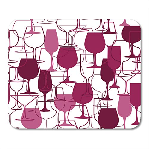Semtomn Mouse Pad Red Wine Glasses and Restaurant Suitable for Promotional Magazine Mousepad 9.8