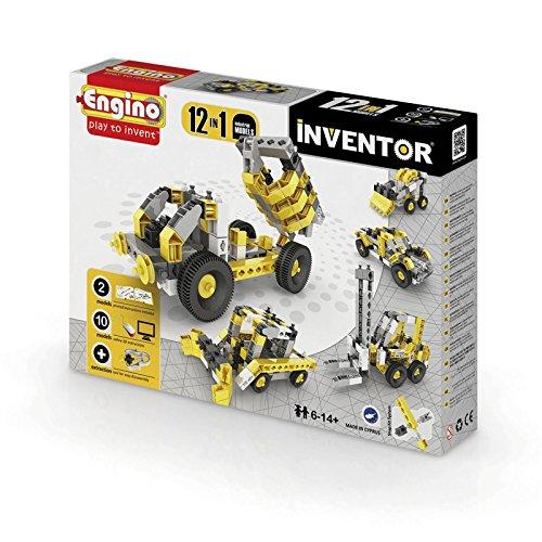 Engino.net Ltd Inventor Build 12 Models Industrial Vehicles Construction Kit ()