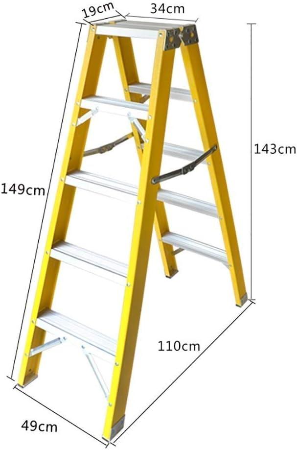 WYNZYYX Escalera Telescópica Escalera Plegable Escalera De Aislamiento For Electricista Engrosamiento Escalera De Ingeniería De Doble Cara Inicio (Size : 3-Step Ladder): Amazon.es: Hogar