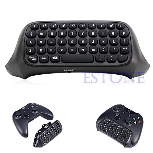 Black Portable USB Wireless Chatpad Message Keyboard for Xbox One Controller 2.4G