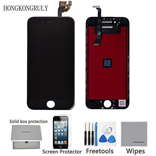 """Full LCD Display Touch Screen Digitizer Assembly Replacement Part for Iphone 6 (4.7"""") with Free Tool (black)"""