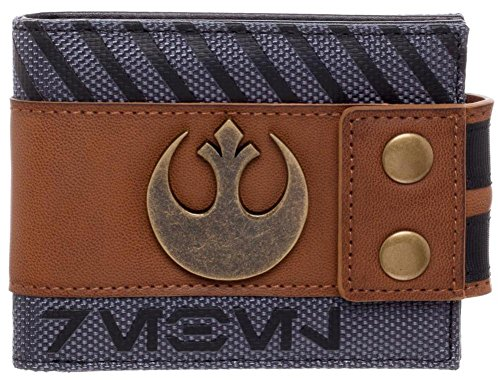 bioworld-mens-star-wars-rogue-one-rebel-snap-bi-fold-wallet-gray-one-size