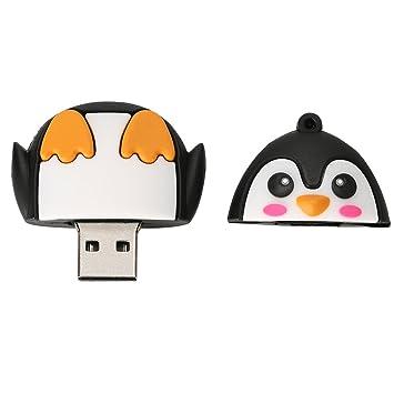 Sharplace Palo de Memoria Pen Drive Forma de Pingüino Dibujo ...