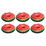 Swimline Inflatable Single Rider Watermelon Lake Ocean Water Towable Tube Float (6 Pack)