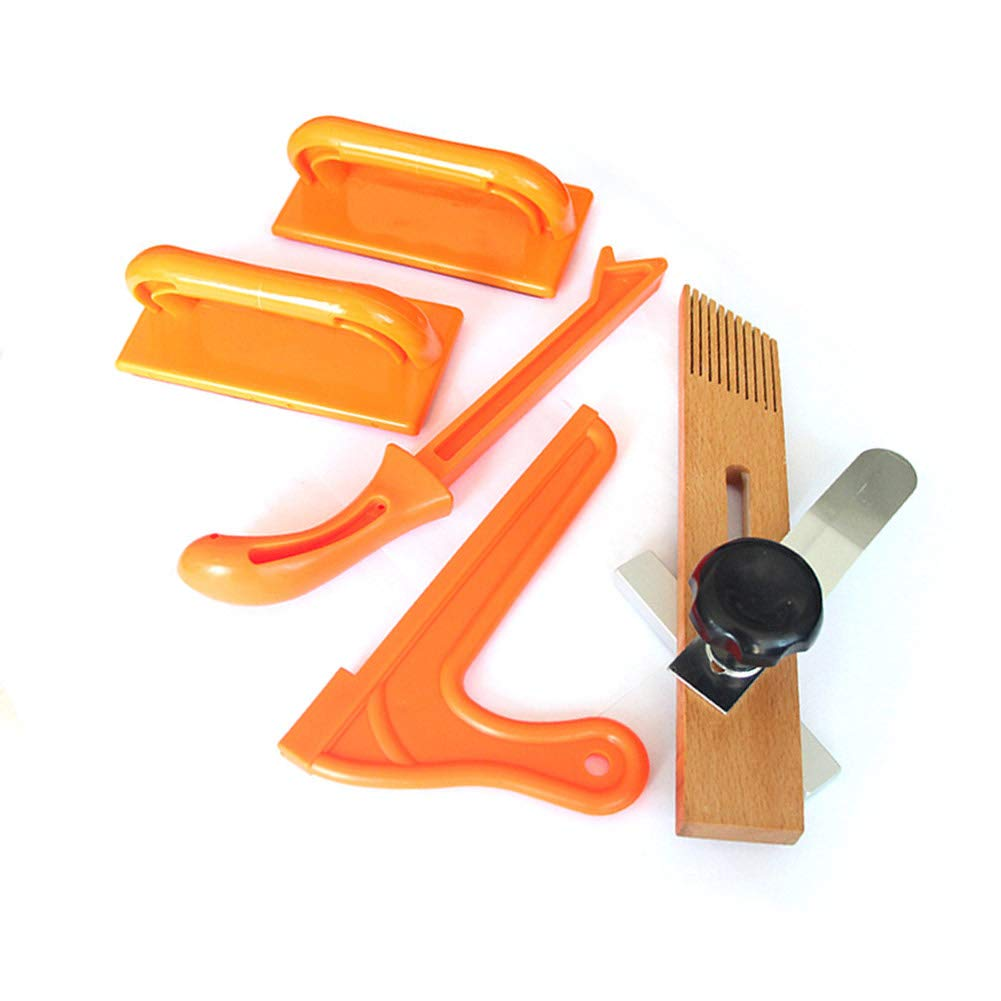Wenyun Safety Woodworking Push Block and Push Stick Set, Ideal for Woodworkers and Use On Table Saws, Jointers and Band Saws