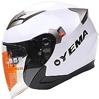 YEMA Helmet YM-627 Dual Visor Open Face Motorcycle Helmet-White, Large from Lanxi Yema Motorcycle Fittings Co.,LTD