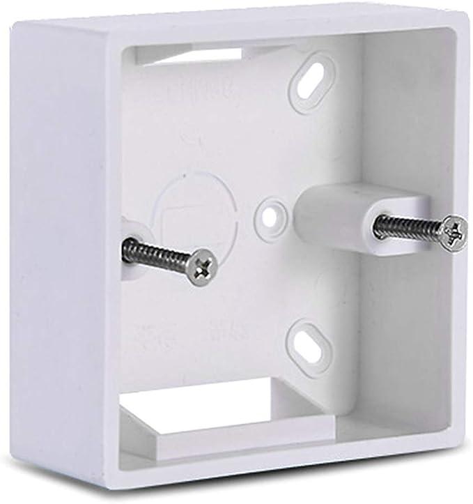 ZUIMEI 86 x 86 PVC caja de derivación de espesamiento de pared Cassette para interruptor base interruptor caja eléctrica accesorios: Amazon.es: Hogar