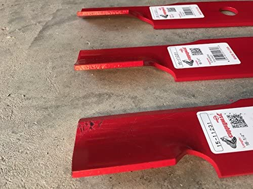"""48/"""" Rotary 11231 Notched Air Foil High Lift Lawnmower Blade Set Exmark 103-6401"""