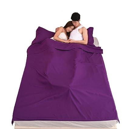 Saco de Dormir Liner, Algodón Hoja de Viaje y Camping, Rectangular cómodo Saco de