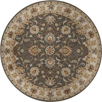 Surya Caesar CAE 1005 Classic Hand Tufted 100% Wool Charcoal Gray 4u0027 Round