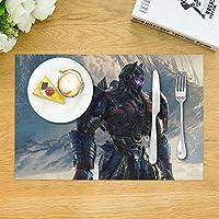 KANKANHAHA Optimus Prime Transformers - Juego de 4 manteles Individuales de Mesa de Comedor Lavables para Mesa de Cocina, de poliéster Resistente al Calor, 12 x 18 Pulgadas: Amazon.es: Hogar