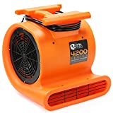 CFM Pro Air Mover Carpet Floor Dryer 3 Speed 1 HP Blower Fan - Stackable - Orange - Industrial Water Flood Damage Restoration