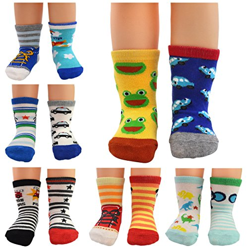 HOVEOX Kids Baby Toddler Socks Non Skid Crew Walkers