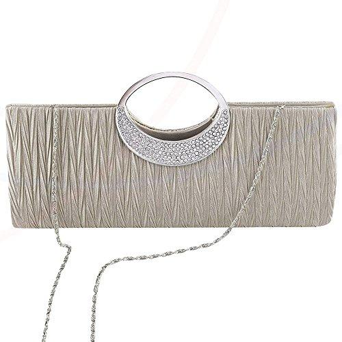 Glittery Silver Handbag Formal Wedding Evening apricot Wonderful Black Bag Ladies Clutch wocharm Diamante zRTqOK