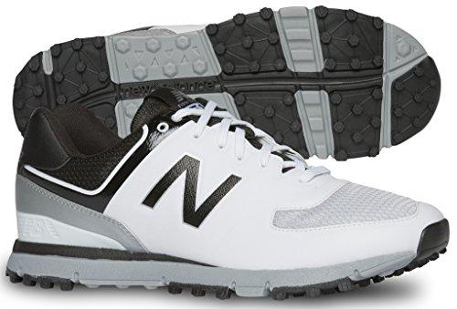 New Balance Men's nbg518 Golf Shoe, White/Black, 11 4E US