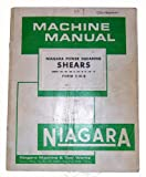 Niagara Shear Instruction Manual & Parts List